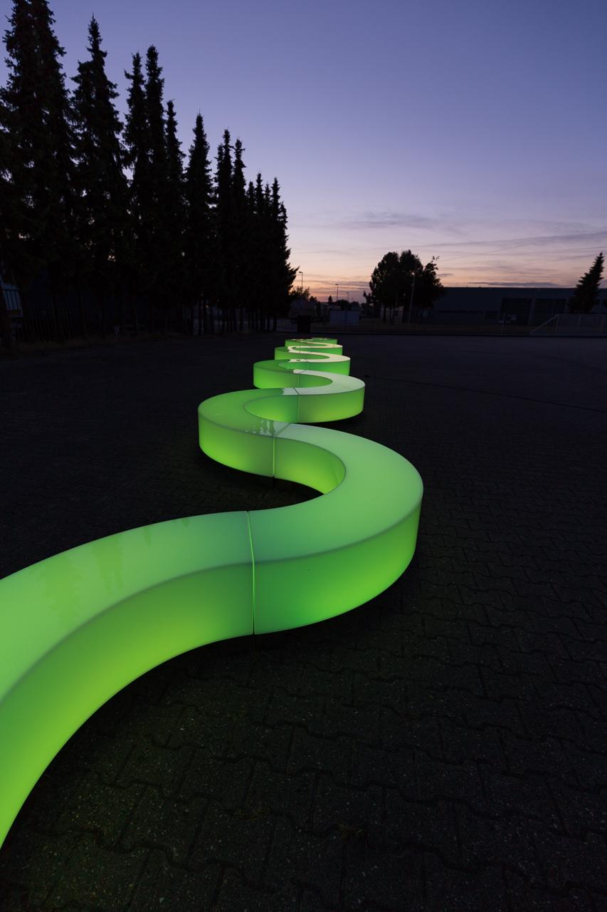 LCO LightSwirl als Objekt im Garten- & Landschaftsbau